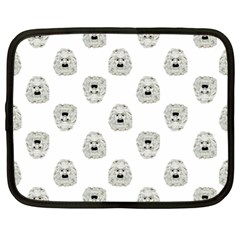 Angry Theater Mask Pattern Netbook Case (xl)
