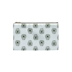 Angry Theater Mask Pattern Cosmetic Bag (small)  by dflcprints