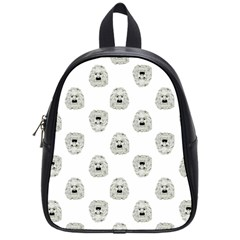 Angry Theater Mask Pattern School Bag (small)