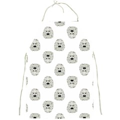 Angry Theater Mask Pattern Full Print Aprons