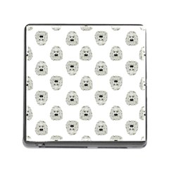 Angry Theater Mask Pattern Memory Card Reader (square)