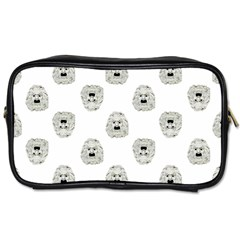 Angry Theater Mask Pattern Toiletries Bags 2 Side