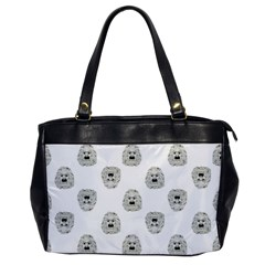 Angry Theater Mask Pattern Office Handbags