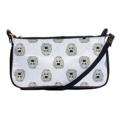 Angry Theater Mask Pattern Shoulder Clutch Bags