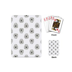 Angry Theater Mask Pattern Playing Cards (mini)