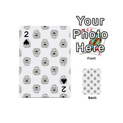 Angry Theater Mask Pattern Playing Cards 54 (mini)
