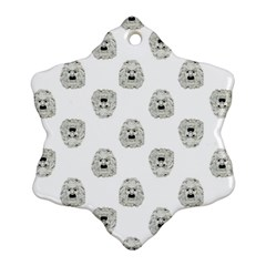 Angry Theater Mask Pattern Snowflake Ornament (two Sides)