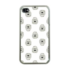 Angry Theater Mask Pattern Apple Iphone 4 Case (clear)