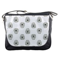 Angry Theater Mask Pattern Messenger Bags