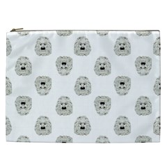 Angry Theater Mask Pattern Cosmetic Bag (xxl)