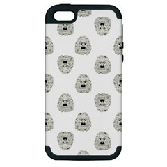 Angry Theater Mask Pattern Apple Iphone 5 Hardshell Case (pc+silicone)