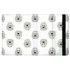 Angry Theater Mask Pattern Apple Ipad 3/4 Flip Case