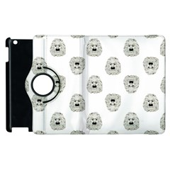 Angry Theater Mask Pattern Apple Ipad 2 Flip 360 Case