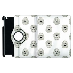 Angry Theater Mask Pattern Apple Ipad 3/4 Flip 360 Case