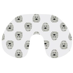Angry Theater Mask Pattern Travel Neck Pillows