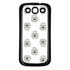 Angry Theater Mask Pattern Samsung Galaxy S3 Back Case (black)