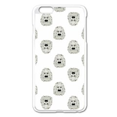 Angry Theater Mask Pattern Apple Iphone 6 Plus/6s Plus Enamel White Case