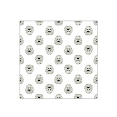 Angry Theater Mask Pattern Satin Bandana Scarf