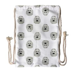 Angry Theater Mask Pattern Drawstring Bag (large)