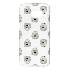 Angry Theater Mask Pattern Samsung Galaxy S7 Edge Hardshell Case