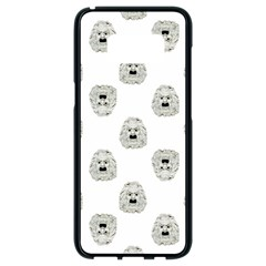 Angry Theater Mask Pattern Samsung Galaxy S8 Black Seamless Case
