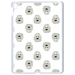 Angry Theater Mask Pattern Apple Ipad Pro 9 7   White Seamless Case