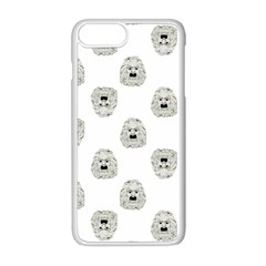 Angry Theater Mask Pattern Apple Iphone 8 Plus Seamless Case (white)