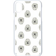 Angry Theater Mask Pattern Apple Iphone X Seamless Case (white)