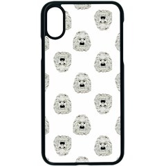 Angry Theater Mask Pattern Apple Iphone X Seamless Case (black)