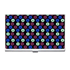Eye Dots Blue Magenta Business Card Holders