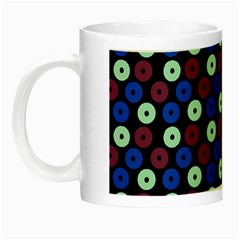 Eye Dots Blue Magenta Night Luminous Mugs