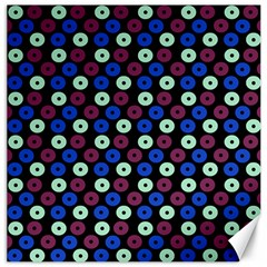 Eye Dots Blue Magenta Canvas 20  X 20