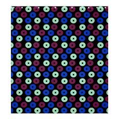 Eye Dots Blue Magenta Shower Curtain 66  X 72  (large)