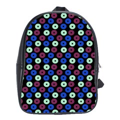 Eye Dots Blue Magenta School Bag (large)