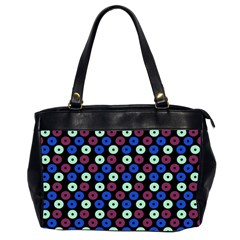 Eye Dots Blue Magenta Office Handbags (2 Sides)  by snowwhitegirl