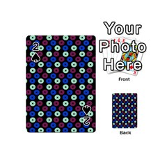 Eye Dots Blue Magenta Playing Cards 54 (mini)