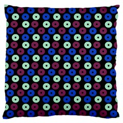 Eye Dots Blue Magenta Large Cushion Case (two Sides)