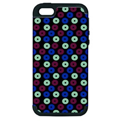 Eye Dots Blue Magenta Apple Iphone 5 Hardshell Case (pc+silicone)