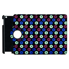 Eye Dots Blue Magenta Apple Ipad 3/4 Flip 360 Case