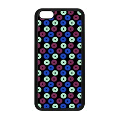 Eye Dots Blue Magenta Apple Iphone 5c Seamless Case (black)