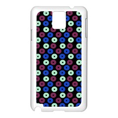 Eye Dots Blue Magenta Samsung Galaxy Note 3 N9005 Case (white)