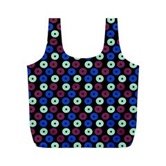 Eye Dots Blue Magenta Full Print Recycle Bags (m)