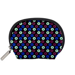 Eye Dots Blue Magenta Accessory Pouches (small)