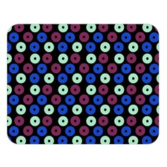 Eye Dots Blue Magenta Double Sided Flano Blanket (large)