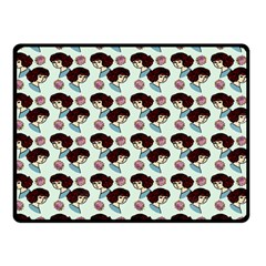 Redhead Girl Blue Double Sided Fleece Blanket (small)