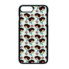 Redhead Girl Blue Apple Iphone 8 Plus Seamless Case (black) by snowwhitegirl