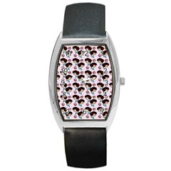 Redhead Girl Pink Barrel Style Metal Watch by snowwhitegirl