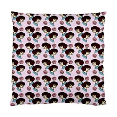 Redhead Girl Pink Standard Cushion Case (two Sides)