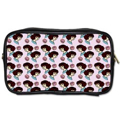 Redhead Girl Pink Toiletries Bags 2 Side