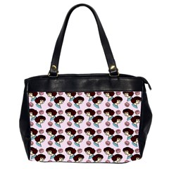 Redhead Girl Pink Office Handbags (2 Sides)